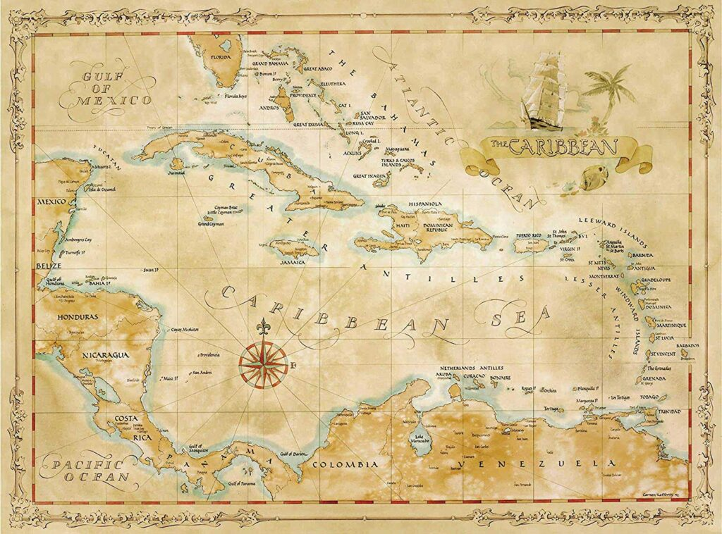 Carribean Treasure Map